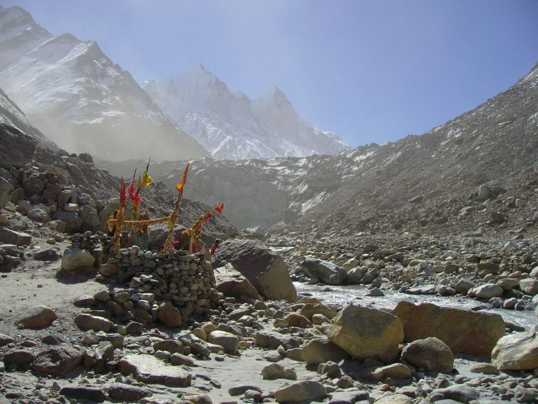 Gaumukh Gangotri glacier in Nepal. Atarax42/Wikipedia, Creative Commons