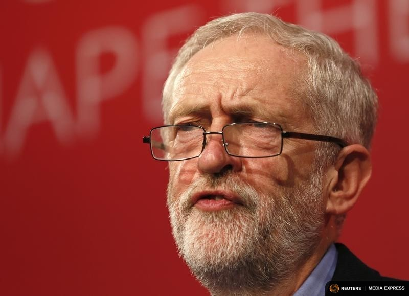 The new leader of Britain's opposition Labour Party Jeremy Corbyn makes his inaugural speech at the Queen Elizabeth Centre in central London, September 12, 2015. REUTERS/Stefan Wermuth