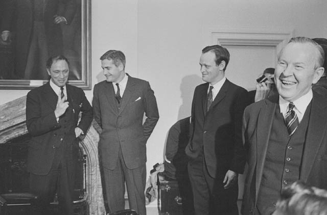 Pierre E. Trudeau, John Turner, Jean Chretien, and Pearson. Photo: Library and Archives of Canada via Wikipedia