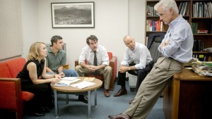 Rachel McAdams, Mark Ruffalo, Brian d'Arcy James, Michael Keaton and John Slattery in 'Spotlight.' Publicity Photo: Kerry Hayes, © Open Road Films