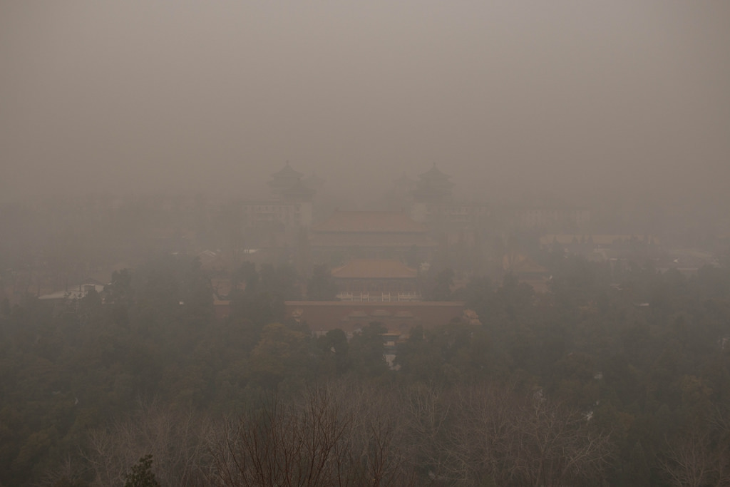 Beijing in smog on Nov. 29. Photo by LWYang/Flickr/Creative Commons