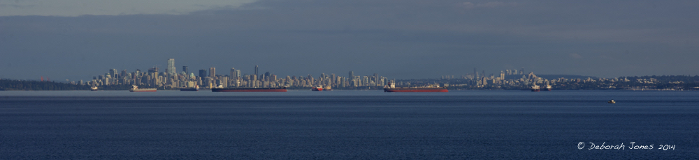 Vancouver from Howe Sound. Photo by Deborah Jones © 2014
