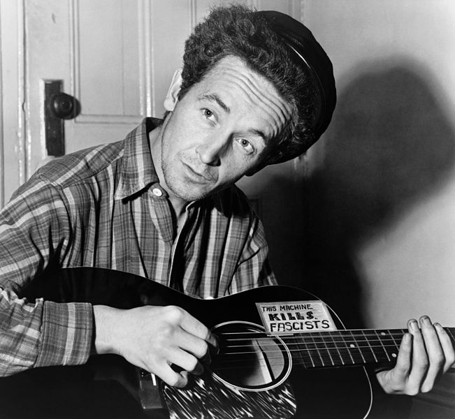 Woody Guthrie, March 8, 1943. Photo by Al Aumuller/New York World-Telegram/UUS Library of Congress's Prints and Photographs division, digital ID cph.3c30859