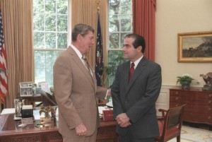 U.S. President Reagan and then-nominee Antonin Scalia in 1986. Photo: Bill Fitz-Patrick, White House Photographer