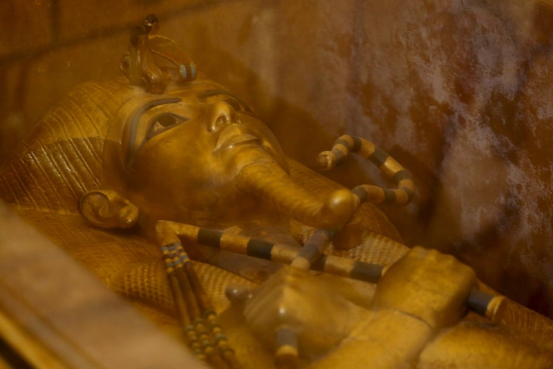 The golden sarcophagus of King Tutankhamun in his burial chamber is seen in the Valley of the Kings, in Luxor, Egypt, November 28, 2015 file photo. REUTERS/Mohamed Abd El Ghany/Files