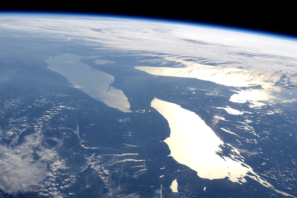 The Great Lakes and the Finger Lakes o New York state from the International Space Station, June 14, 2012, by the Expedition 31 crew. http://earthobservatory.nasa.gov/IOTD/view.php?id=78617