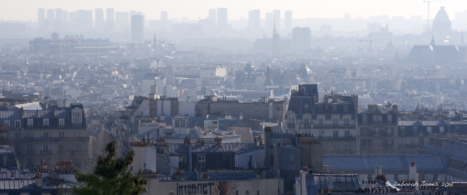 Paris smog, from Montmartre