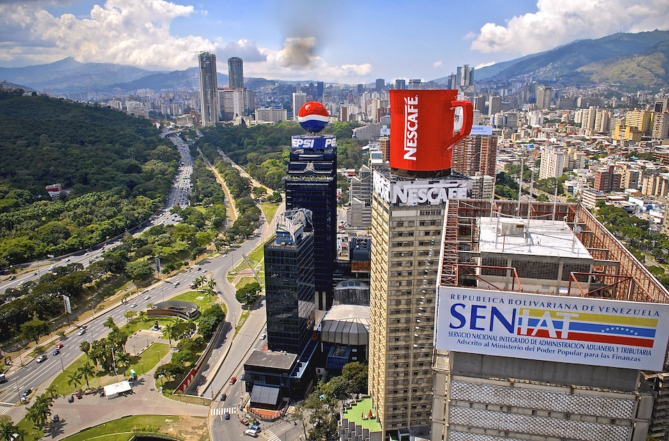 Aerial view of Caracas from Plaza Venezuela. Paulino Moran/Flickr/Creative Commons
