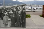 Komagatu Maru monument near Vancouver's convention centre, overlooking Coal Harbour.