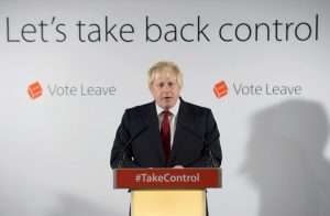 Vote Leave campaign leader Boris Johnson speaks at the group's headquarters in London, Britain June 24, 2016.       REUTERS/Stefan Rousseau/Pool