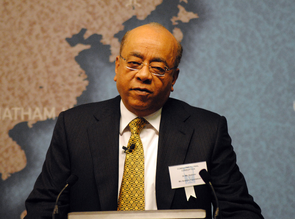 Mo Ibrahim. Photo Chatham House via Wikipedia, Creative Commons