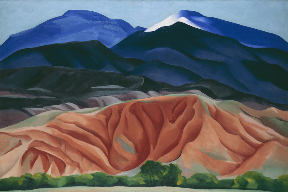 Georgia O'Keeffe - Black Mesa Landscape, New Mexico / Out Back of Marie's II, 1930 Oil on canvas mounted on board. Georgia O'Keeffe Museum, Gift of The Burnett Foundation ©Georgia O'Keeffe Museum via The Tate