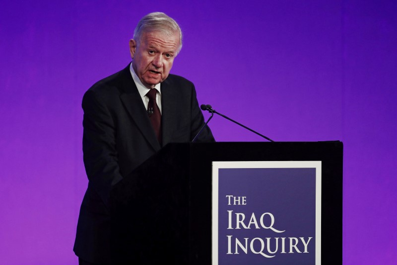 Sir John Chilcot presents The Iraq Inquiry Report at the Queen Elizabeth II Centre in Westminster, London, Britain July 6, 2016.  REUTERS/Jeff J Mitchell/Pool