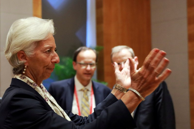 Christine Lagarde, Managing Director of the International Monetary Fund reacts to photographers before attending the G20 High-level Tax Symposium held in Chengdu, China, July 23, 2016. REUTERS/Ng Han Guan/Pool
