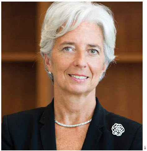 """Carbon pricing is the most effective policy for reducing emissions,"" says Christine Lagarde, Managing Director, International Monetary Fund. IMF official portrait"