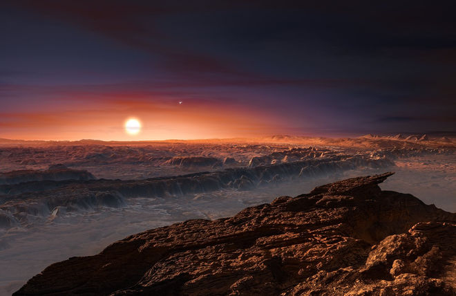 An artists' conception of what Proxima b might look like. Image: © European Southern Observatory
