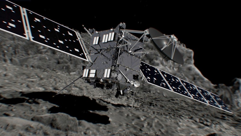 Artist's impression of Rosetta spacecraft shortly before hitting Comet 67P/Churyumov–Gerasimenko on September 30, 2016.  ESA/ATG medialab/Handout via REUTERS