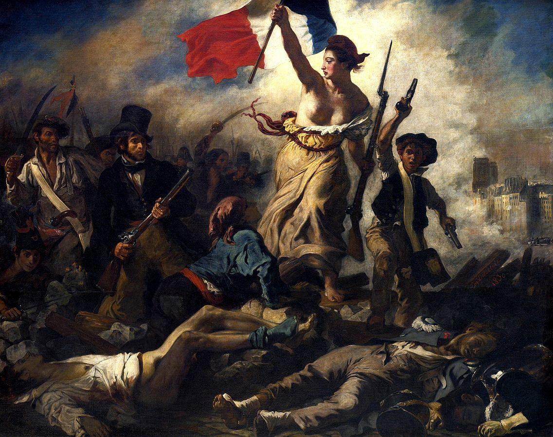 Liberty Leading the People by Eugène Delacroix, 1830. Public domain.