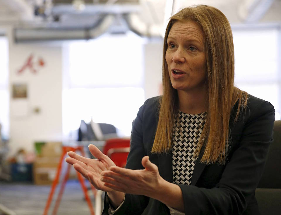 Monika Bickert, Facebook's head of global policy management, is interviewed by Reuters in Washington DC February 2, 2016. REUTERS/Gary Cameron/File Photo