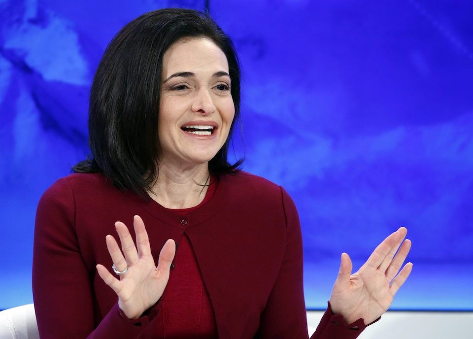 Sheryl Sandberg, Chief Operating Officer of Facebook attends a session during the annual meeting of the World Economic Forum in Davos, Switzerland January 20, 2016. REUTERS/Ruben Sprich/File Photo