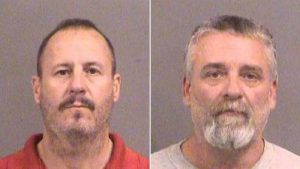 Mug shots of Curtis Allen and Gavin Wright, charged in Kansas bomb plot. Photo: Police handout