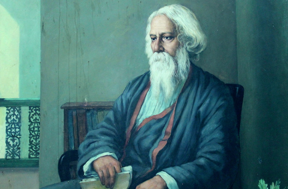 Portrait of Rabindranath Ttagore at Jadavpur University, by Cherishsantosh/Wikimedia