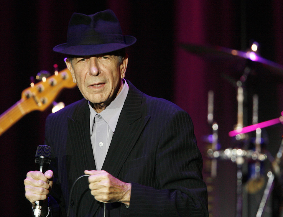 Leonard Cohen performs at the 42nd Montreux Jazz Festival in Switzerland, July 8, 2008. REUTERS/Denis Balibouse