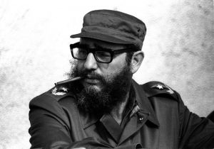 Fidel Castro attends manoeuvres during the anniversary of his and his fellow revolutionaries arrival on the yacht Granma, November 1976. REUTERS/Prensa Latina