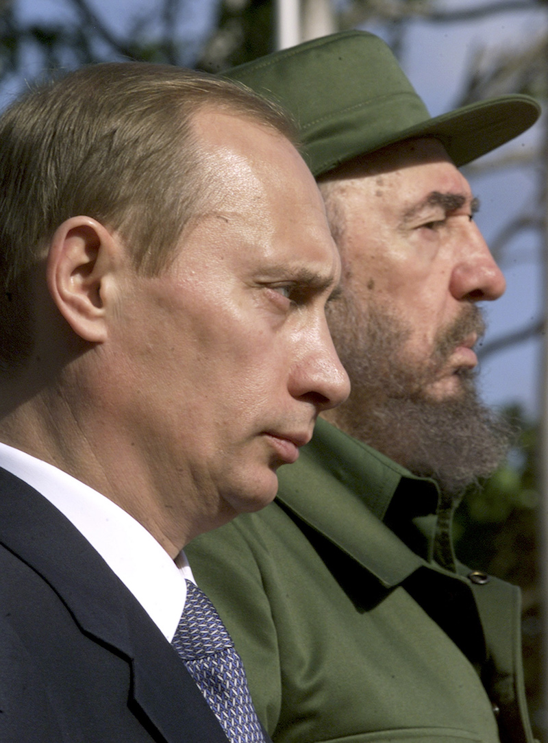 fidel castro facts opinions russia s president vladimir putin and s president fidel castro stand side by side during putin s official