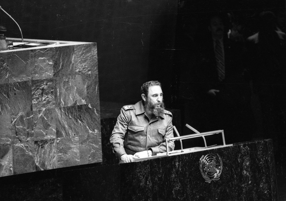 Fidel Castro dies, age 90. Then Cuban President Fidel Castro addresses the audience as president of the Non-Aligned Movement at the United Nations in New York, in this October 12, 1979 file photo. REUTERS/Prensa Latina/File Photo