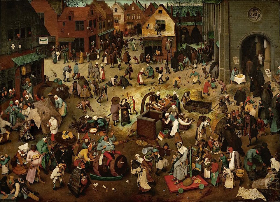 Pieter Brueghel the Elder, The Fight Between Carnival and Lent.