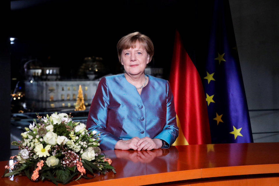 Terrorism is Germany's biggest threat: German Chancellor Angela Merkel poses for photographs after the television recording of her annual New Year's speech at the Chancellery in Berlin, Germany, December 30, 2016. REUTERS/Markus Schreiber/Pool