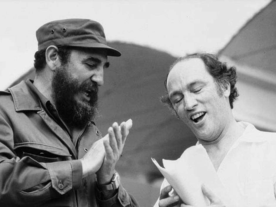 Cuba's Fidel Castro with Pierre Trudeau, former Canadian Prime Minister. Duncan Cameron, Library and Archives Canada.
