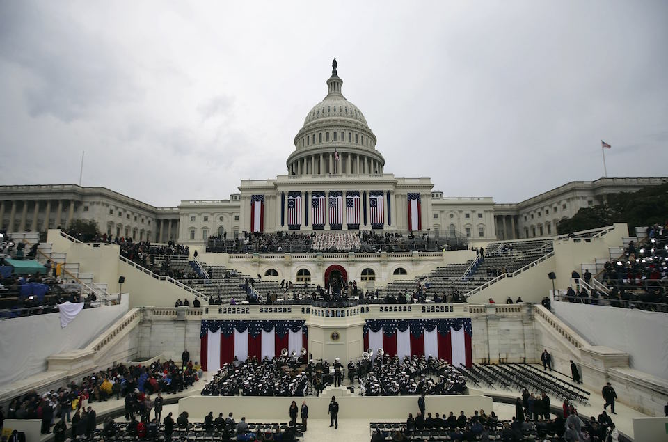 General view of west side of US Capitol prior to the inauguration to swear in Donald Trump as the 45th president of the United States in Washington, U.S., January 20, 2017. REUTERS/Carlos Barria