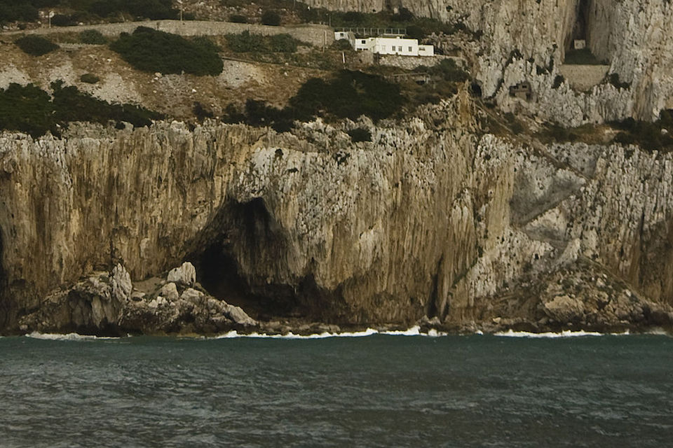 View of Gorham's Cave, a sea cave in the east face of the Rock of Gibraltar, Gibraltar. Photo credit: Gibmetal77/Wikipedia