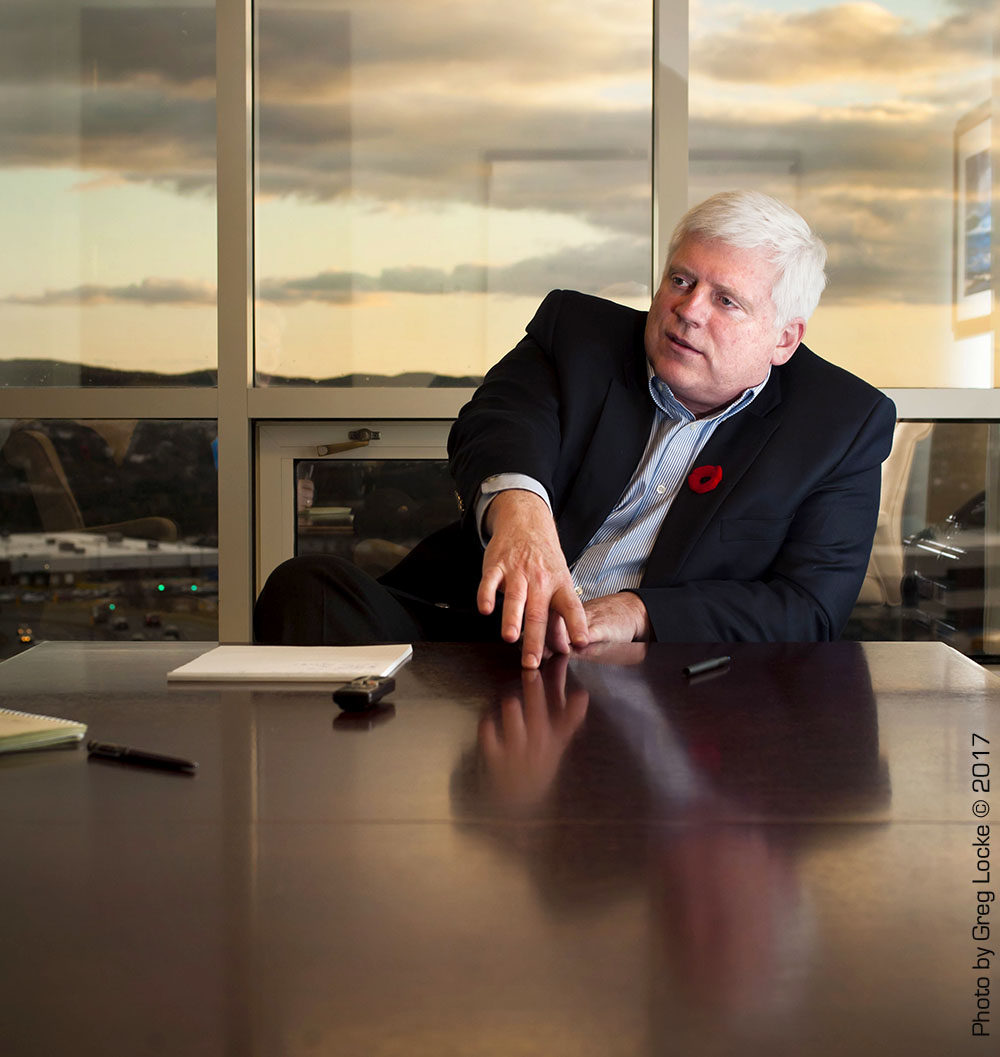 Ed Martin, former president and CEO of Nalcor Energy. Photo by Greg Locke © 2017