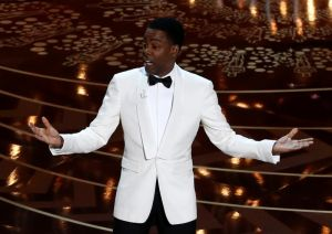 Host Chris Rock opens the show at the 88th Academy Awards in Hollywood
