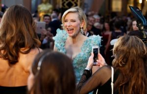 Cate Blanchett, nominated for Best Actress for her role in