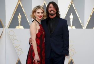 Musician Dave Grohl and wife Jordyn Blum arrive at the 88th Academy Awards in Hollywood