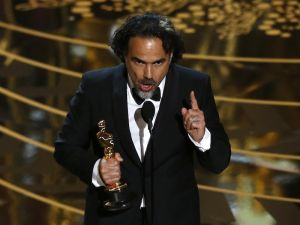 Mexico's Alejandro Inarritu wins the Oscar for Best Director for the movie